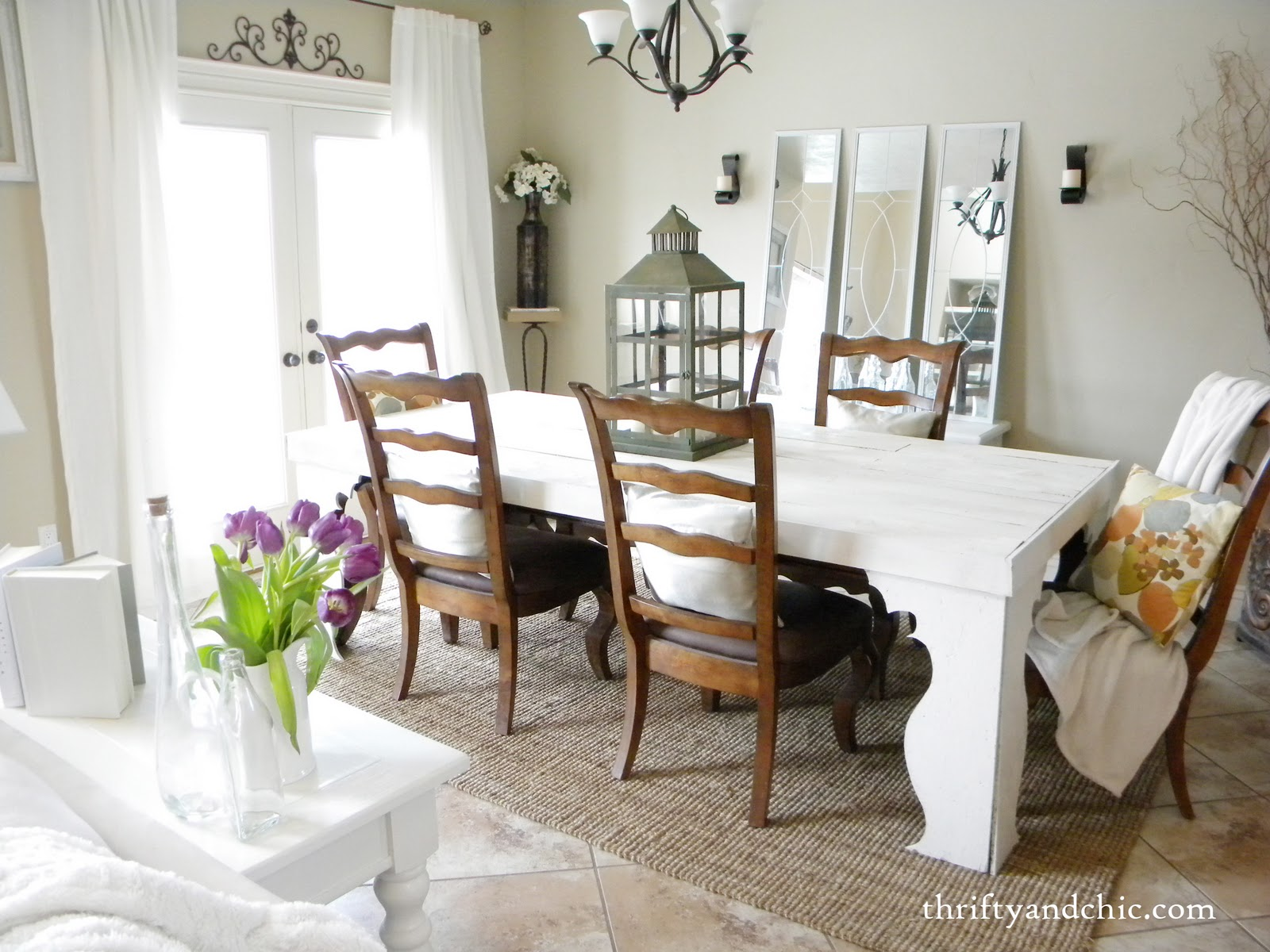 Thrifty and chic diy projects and home decor for Farmhouse dining room ideas