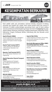 Lowongan Kerja PT. AKR Corporindo, Tbk November 2015 Terbaru Di Lampung, Lowongan Kerja SMA/ SMK PT. AKR Corporindo, Tbk November 2015 Terbaru, Lowongan Kerja D3 PT. AKR Corporindo, Tbk November 2015 Terbaru, Lowongan Kerja D1 PT. AKR Corporindo, Tbk November 2015 Terbaru, Lowongan Kerja S1/ Sarjana PT. AKR Corporindo, Tbk November 2015 Terbaru, Lowongan Kerja Administrasi PT. AKR Corporindo, Tbk November 2015 Terbaru, Lowongan Kerja Accounting PT. AKR Corporindo, Tbk November 2015 Terbaru, Lowongan Kerja Driver/ Sopir PT. AKR Corporindo, Tbk November 2015 Terbaru, Lowongan Kerja Satpam/ Scurity PT. AKR Corporindo, Tbk November 2015 Terbaru, Lowongan Kerja Staff PT. AKR Corporindo, Tbk November 2015 Terbaru, Lowongan Kerja CS/ Costumer Service di PT. AKR Corporindo, Tbk November 2015 Terbaru, Lowongan Kerja IT di PT. AKR Corporindo, Tbk November 2015 Terbaru, Karir Lampung di PT. AKR Corporindo, Tbk November 2015 Terbaru, Alamat Lengkap PT. AKR Corporindo, Tbk November 2015 Terbaru, Struktur Organisasi PT. AKR Corporindo, Tbk November 2015 Terbaru, Email PT. AKR Corporindo, Tbk November 2015, No Telepon PT. AKR Corporindo, Tbk November 2015 Website/ Situs Resmi PT. AKR Corporindo, Tbk November 2015 Terbaru, Gaji Standar UMR di PT. AKR Corporindo, Tbk November 2015 Terbaru, Daftar Cabang Perusahaan PT. AKR Corporindo, Tbk November 2015 Terbaru, Lowongan Kerja Penipuan PT. AKR Corporindo, Tbk November 2015 Terbaru, Lowongan Kerja PT. AKR Corporindo, Tbk November 2015 Terbaru di Bandar Lampung, Lowongan Kerja PT. AKR Corporindo, Tbk November 2015 Terbaru di Metro, Lowongan Kerja PT. AKR Corporindo, Tbk November 2015 Terbaru di Bandar Jaya, Lowongan Kerja PT. AKR Corporindo, Tbk November 2015 Terbaru di Liwa, Lowongan Kerja PT. AKR Corporindo, Tbk November 2015 Terbaru di Kalianda, Lowongan Kerja PT. AKR Corporindo, Tbk November 2015 Terbaru di Tulang Bawang, Lowongan Kerja PT. AKR Corporindo, Tbk November 2015 Terbaru di Pringsewu, Lowongan Kerja PT. AKR Corporindo, Tb