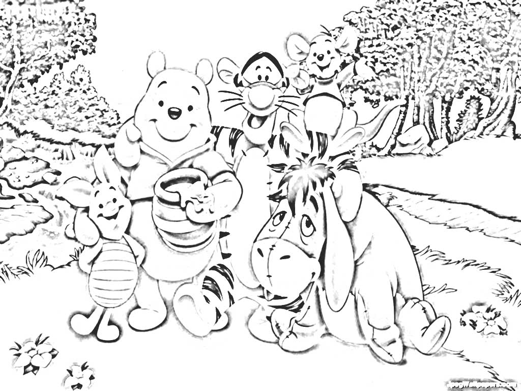 84 Ayo Mewarnai Mewarnai Gambar Winnie The Pooh