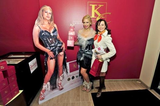 Dita hollywood celebrity dita de leon makes an appearance in in chicago to celebrate the kc chocolatier chicago store opening during earth day as she promotes her line of dita chocolates and does an meet and greet m4hsunfo