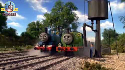 Thomas the train arrived at a small village signal box Percy the tank engine has some important news