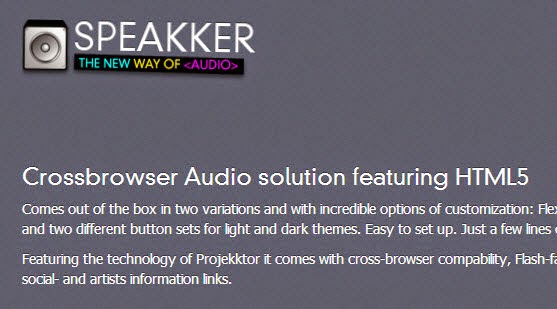 Crossbrowser Audio solution