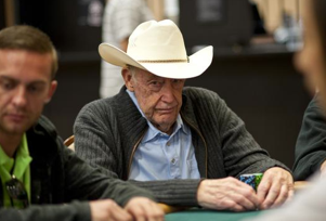 Doyle Brunson on Day 1c of the 2012 WSOP Main Event (Photo: Joe Giron/WSOP)