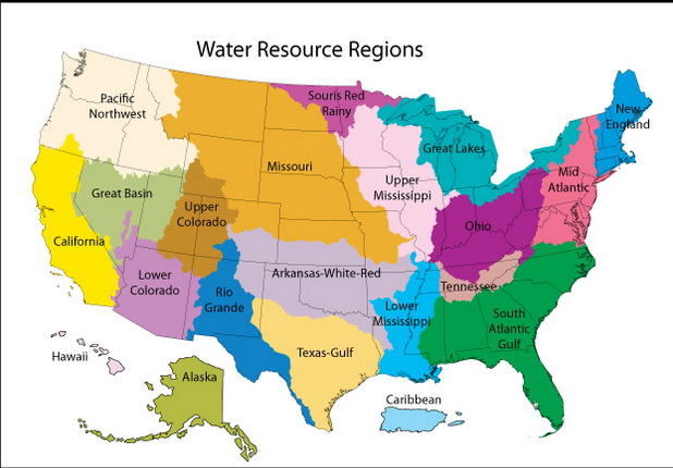 Water resource regions