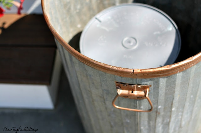 How to plant a garbage can planter - the cheat sheet way! By The LilyPad Cottage featured on I Love That Junk