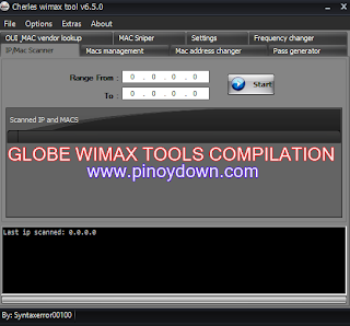 Globe Huawei Wimax Tools Compilation 2013 and their Functions