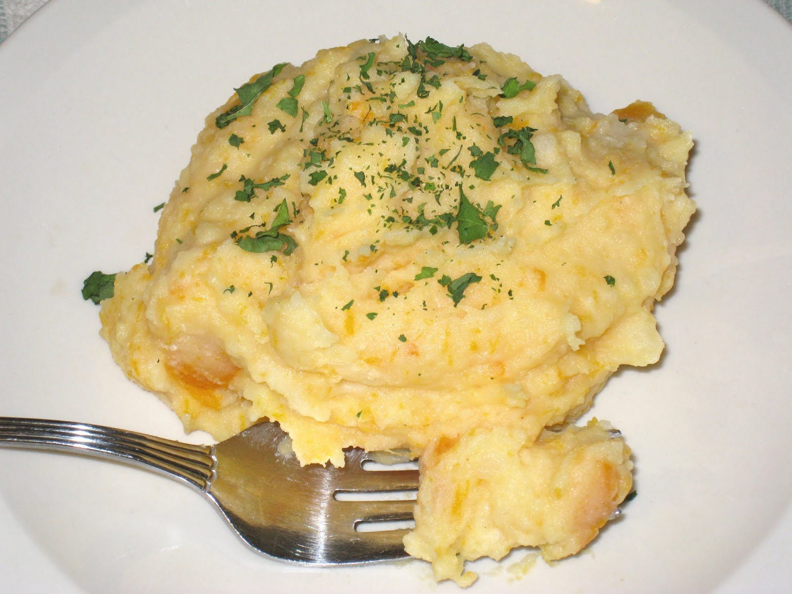 "Mashed ""Potatoes"" With A Butternut Squash Swirl Recipe ..."
