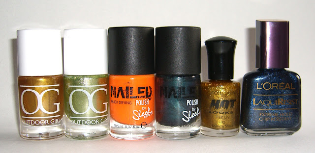 Outdoor Girl - Gold, Green, Nailed - Florida, Poison Ivy, Collection 2000 - Shimmy Shake, L'Oreal - Ocean