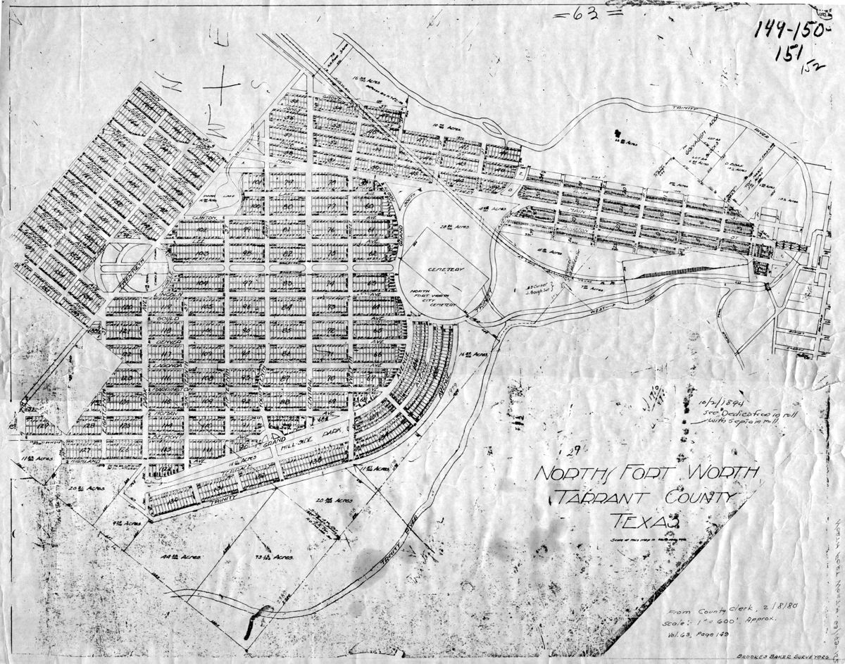 The Fort Worth Gazette: 1894: A Lost North Fort Worth Map Reveals a ...