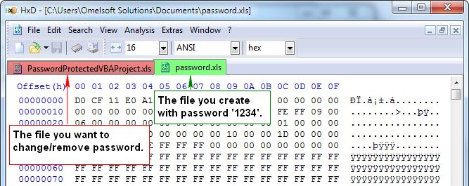 vba password remover hex editor