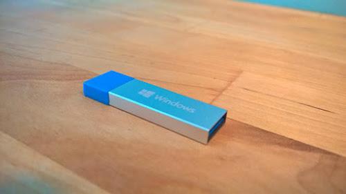 Instalação do Windows 10 será por meio de belos pendrives