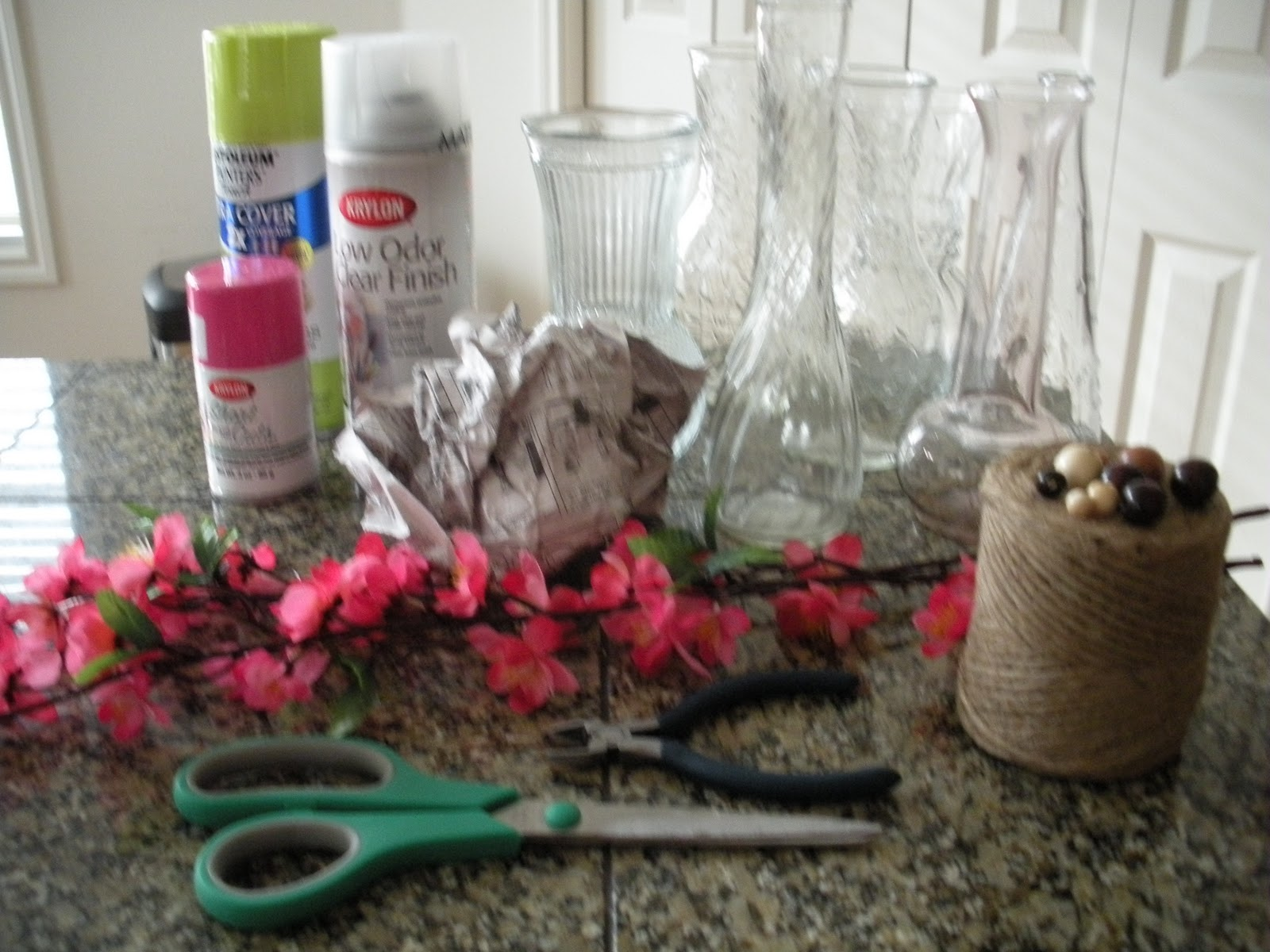 365 Crafts for 365 days: Spray Painted Vases