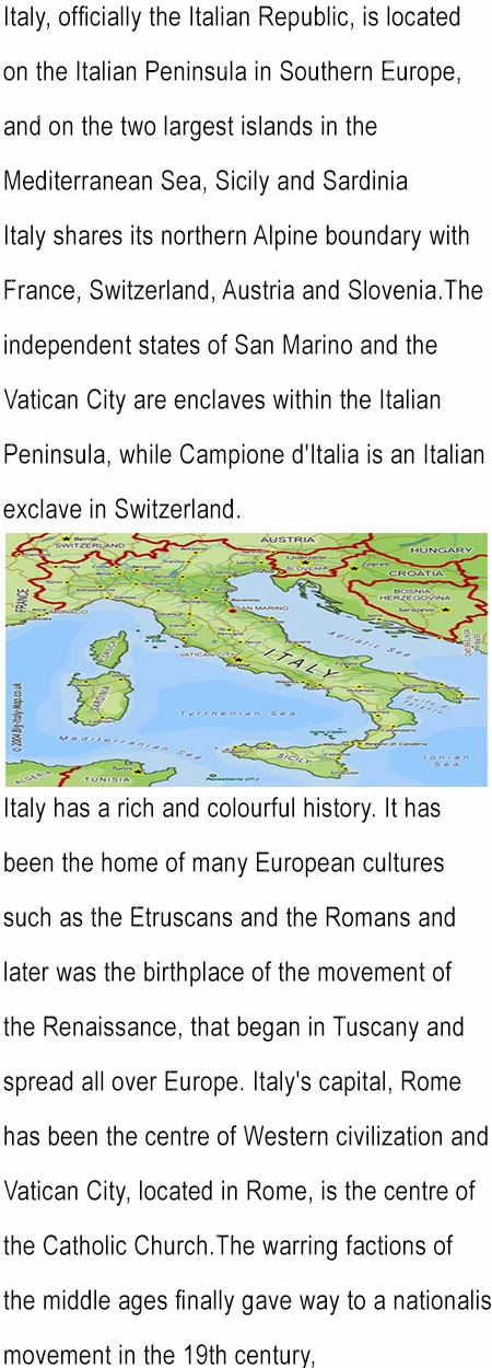 Italy fun facts for kids