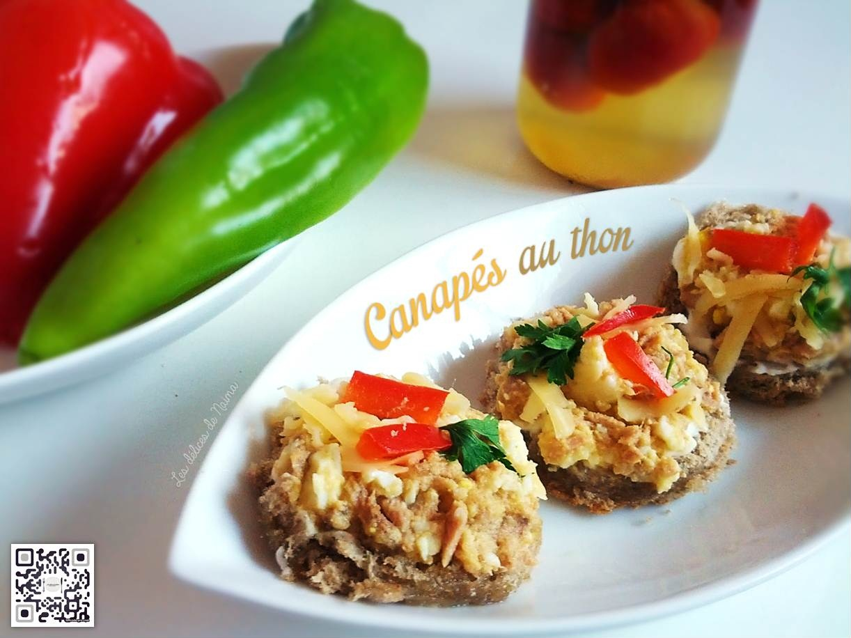 Canap s au thon for Canape au fromage