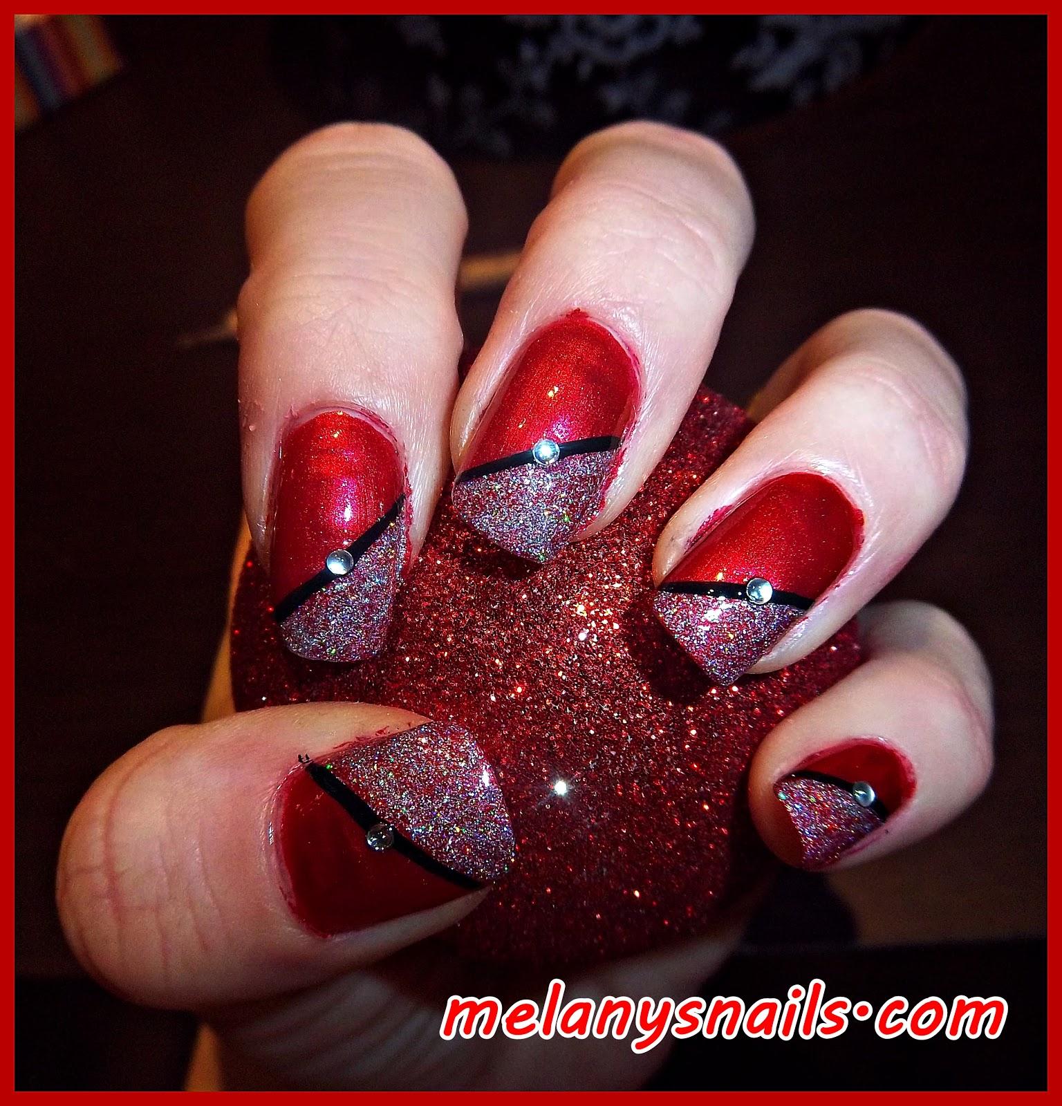 Melanys nails u as decoracion navidad elegante y facil for Decoracion de unas para navidad