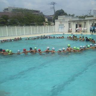 明日は水泳大会です(^ ^)円陣 ...