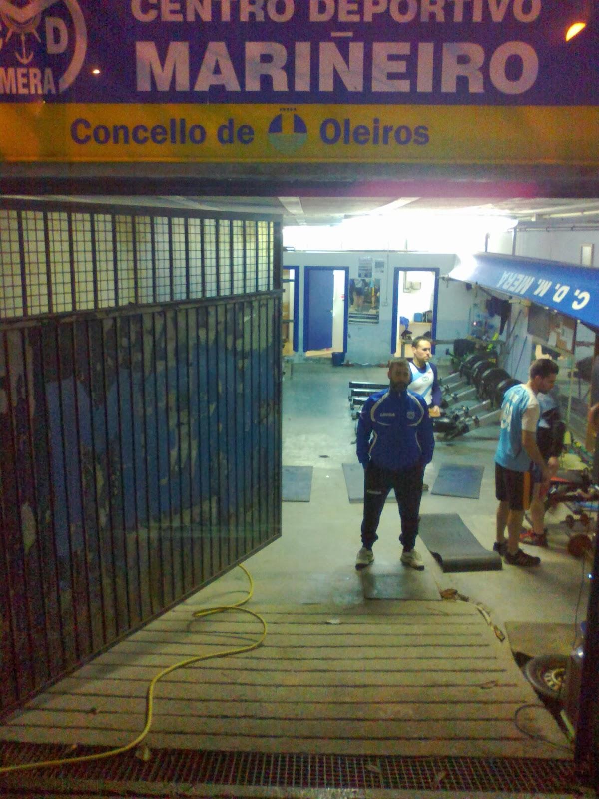 Sintonia deportiva oleiros mari eiros de mera y club for Gimnasio oleiros