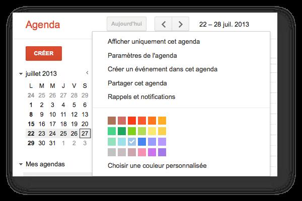 comment partager son agenda sur Google avec son assistante indépendante