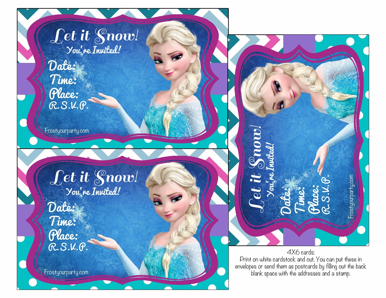 This is a picture of Priceless Printable Frozen Birthday Card