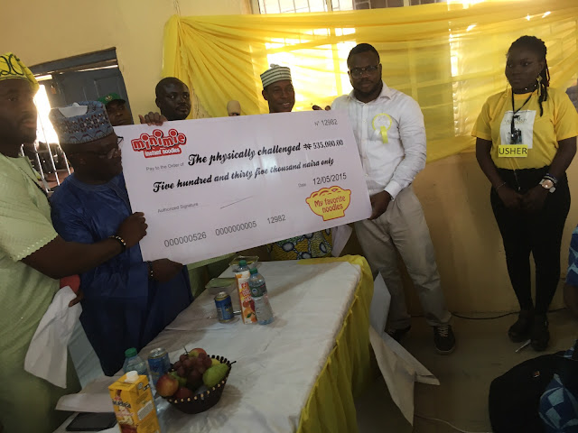 Desmond Elliot, NOUN Give Succour to 107 Physically Challenged in Lagos