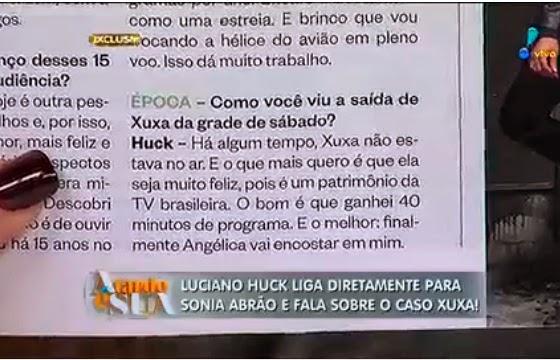 Trecho da entrevista que Luciano cita que foi editada (Foto: Reprodução/Redetv!)