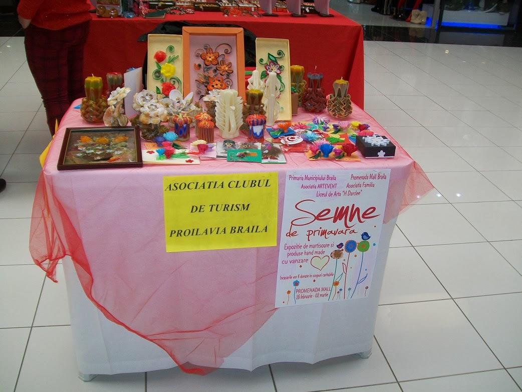 targ promenada mall Braila-martie 2014-Stand propriu  martisoare, tablouri quilling,lumanari cear