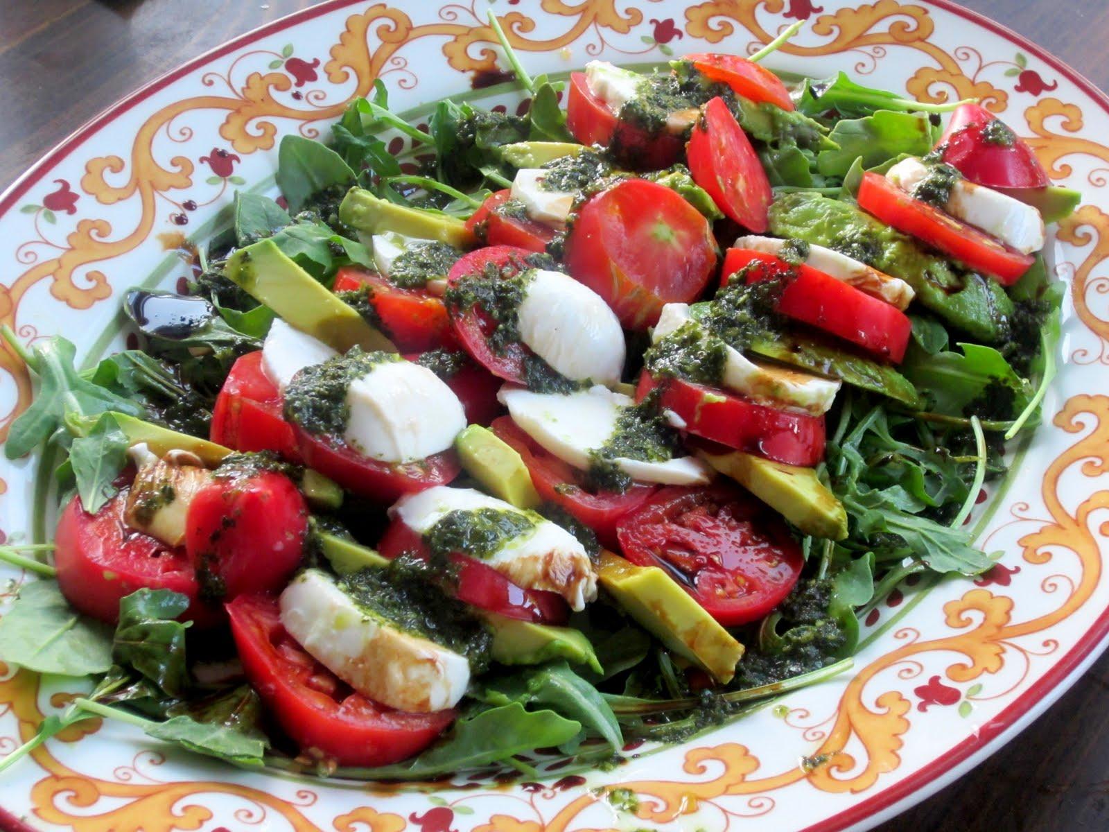 Katie's Feast: Tomato, Avocado, Arugula, and Mozzarella Salad