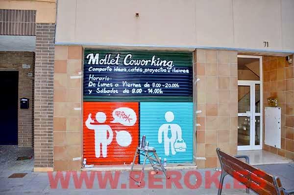 Graffiti persianas Mollet Coworking