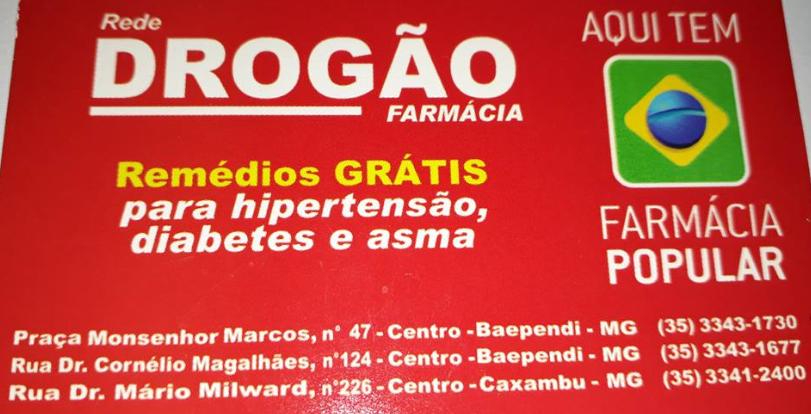 ÓTIMOS PREÇOS E NAS FARMÁCIAS DROGÃO