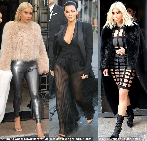 I cried - Kim K on when Kanye threw out her clothes and gave her new ones... 2