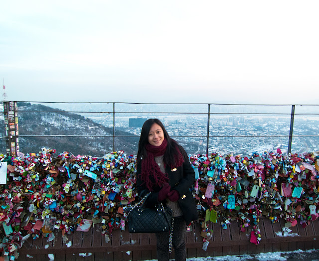 Love locks on top of Mt. Namsan