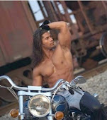 Hot man on a Harley