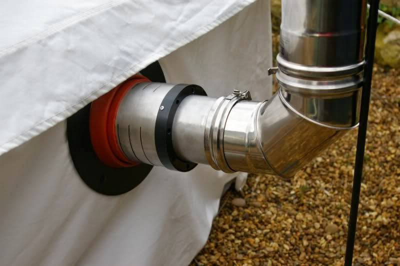 Roof or side wall flue & Bells u0026 Labs: Buying and fitting a Wood Stove in a Bell Tent
