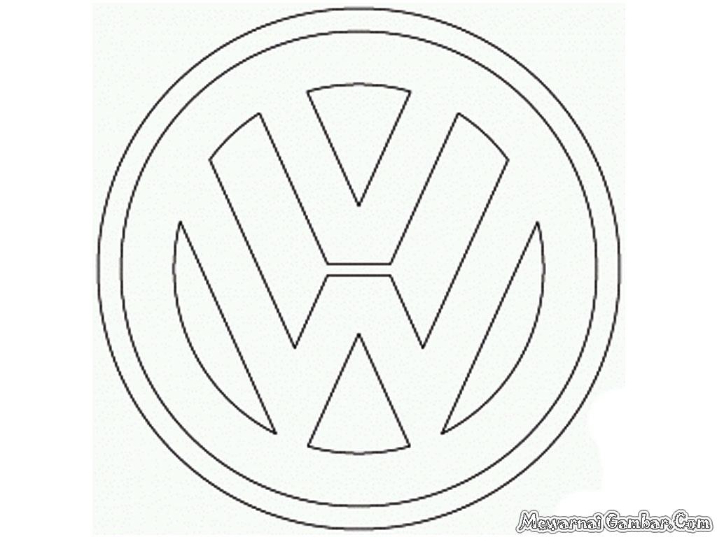 volkswagen logo sketch coloring page