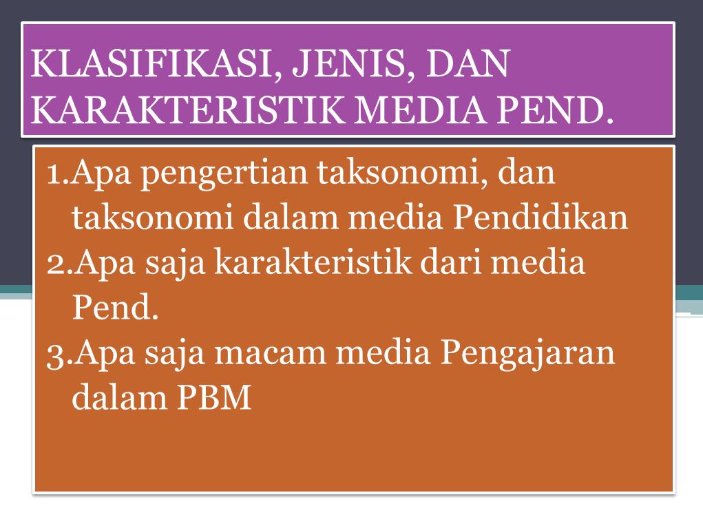 Ppt Teknologi Pendidikan Klasifikasi Jenis Dan Karakteristik Media Pendidikan Blog