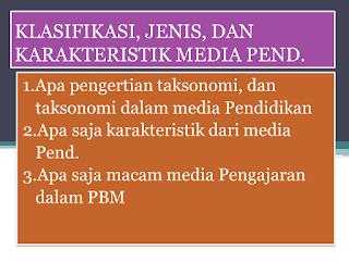 PPT Teknologi Pendidikan (Klasifikasi, Jenis, dan Karakteristik Media Pendidikan)
