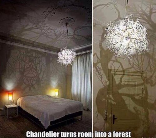 In this Halloween will help you to create the most terrifying atmosphere in  your bedroom  This chandelier turn your bedroom in the forest. NYC mattress  Scary Bedroom Decor for Halloween