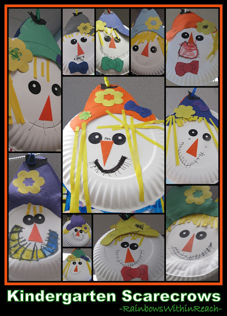 photo of: Scarecrows on Paper Plates in Kindergarten (via RainbowsWithinReach)
