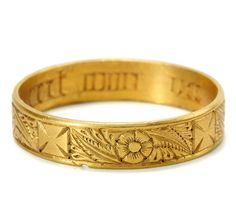 poesy rings were popular during the renaissance a poesy is a poem or ballad and these rings were so named because the sterling silver band was engraved - The One Ring Wedding Band