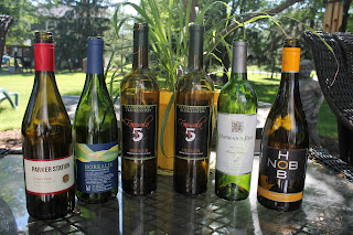 wine bottles outdoor shot Hob Nob, Parker Station, Hayman & Hill, Meeker Wine, Borealis White