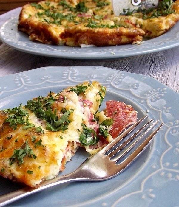 Pepporoni Pizza Frittata Recipe