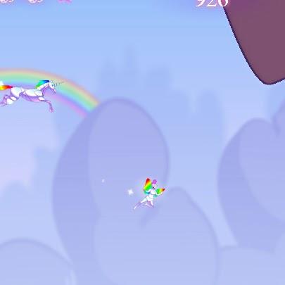 Robot Unicorn Attack FLASH GAME