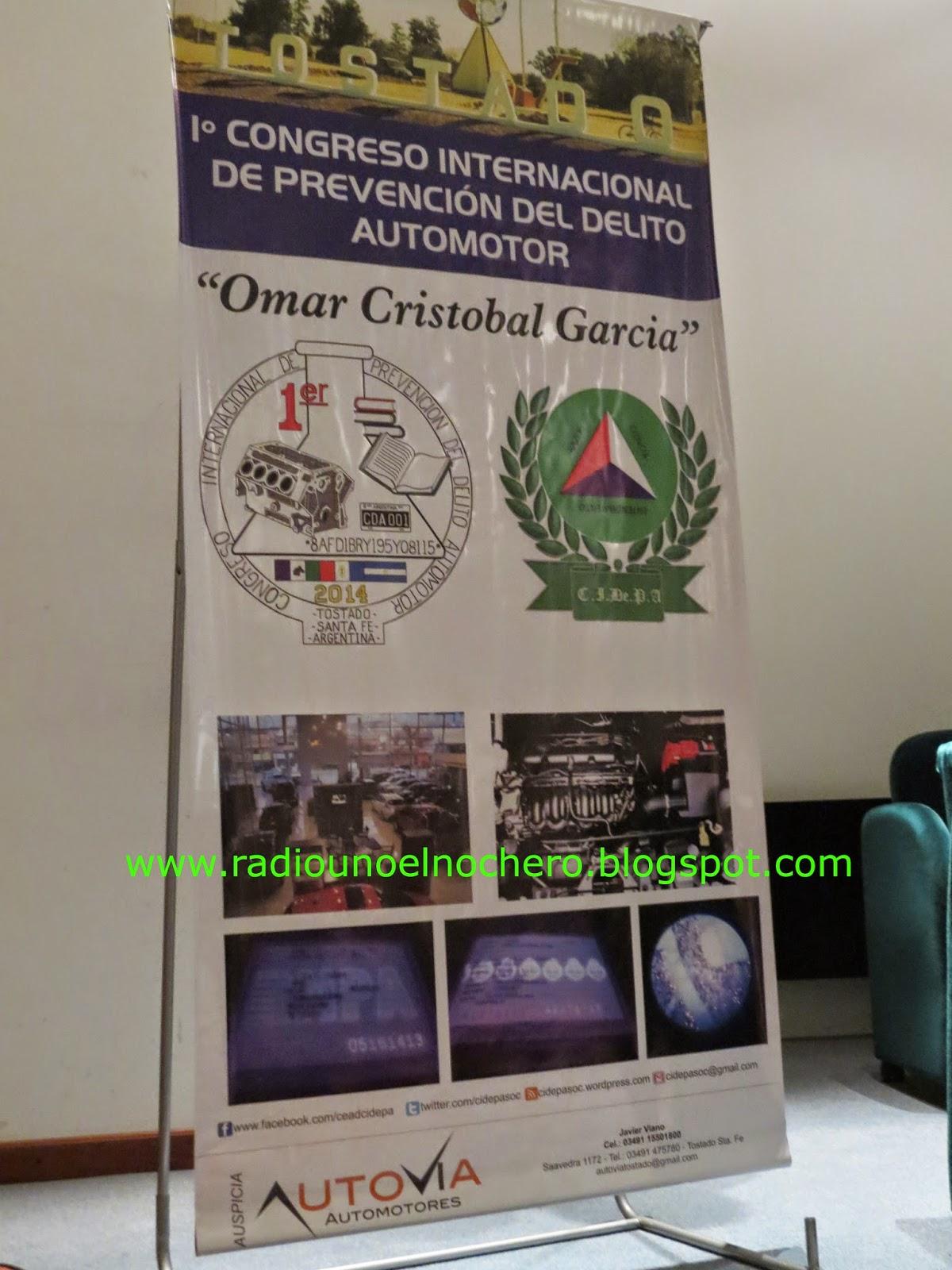 Gramajo cerró el 1º Congreso Internacional de Prevención del Delito Automotor en Tostado
