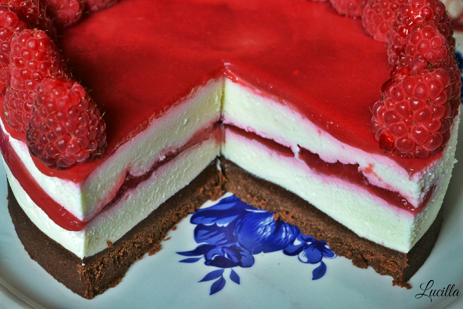 Amato Cheesecake al Cioccolato Bianco e Lamponi (senza cottura) ~ Cœur  KO46