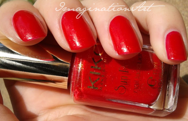 kiko 430 fierce spirit Chili Pepper Red Sun Pearl swatch swatches smalto nail lacquer polish unghie