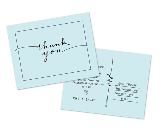 CRAZY ABOUT WEDDINGS Thank you card FREE – Thank You Card Template Free Download