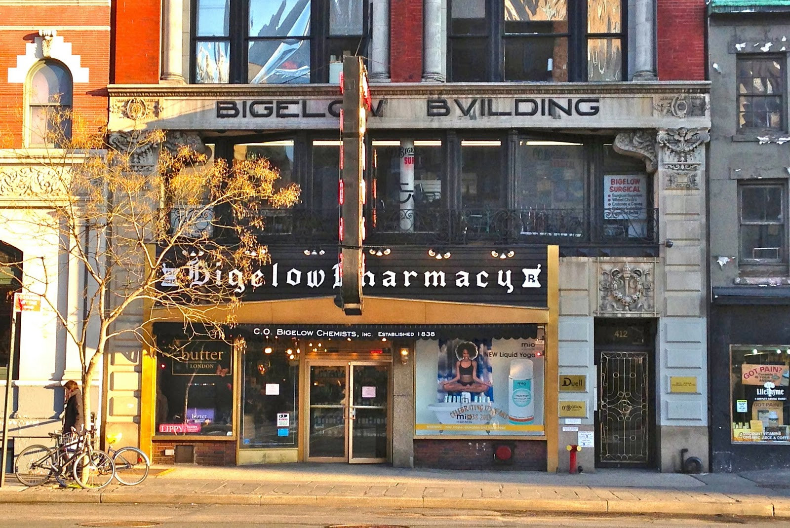 Farmácia CO Bigelow em Nova York