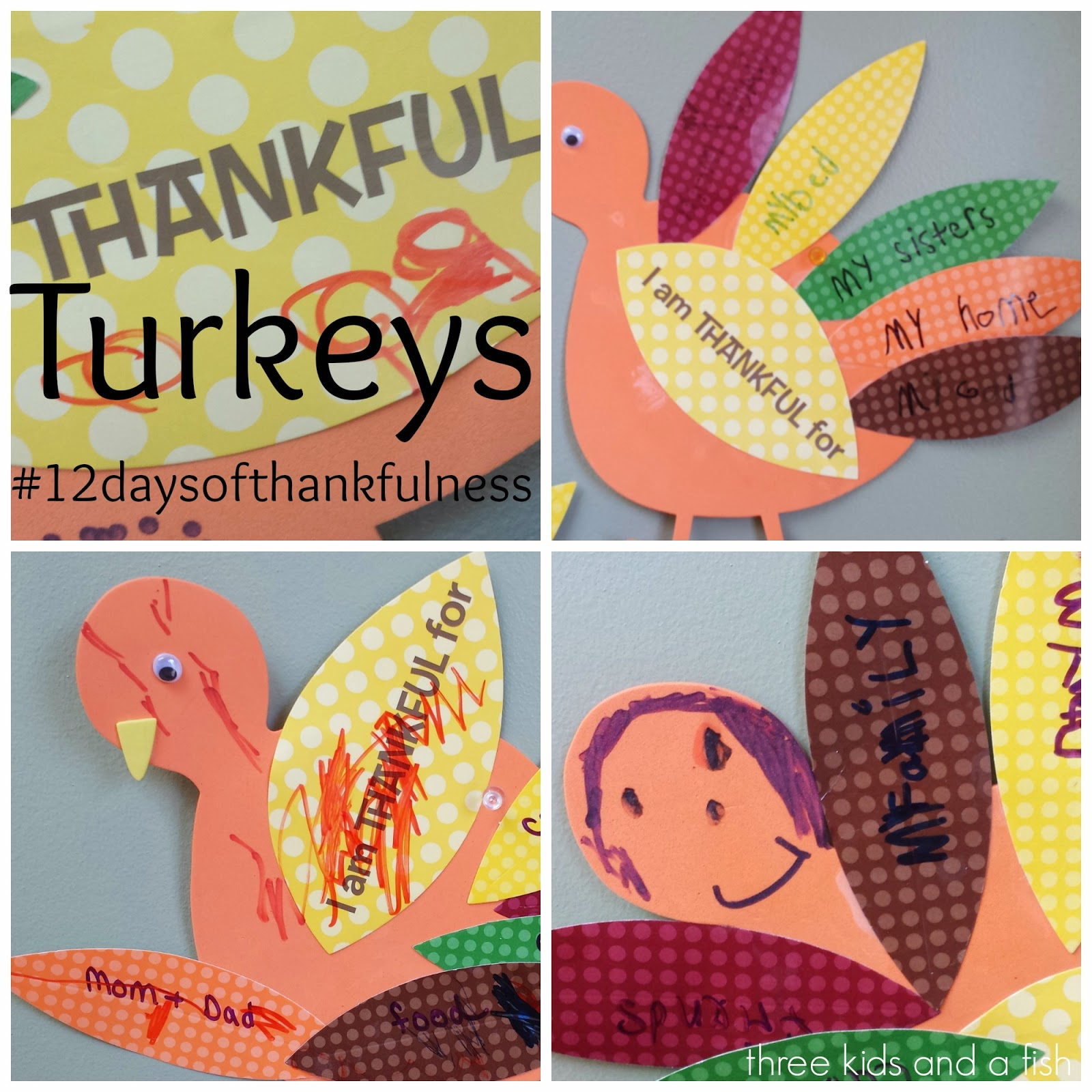 #12daysofthankfulness-Thankful Turkeys