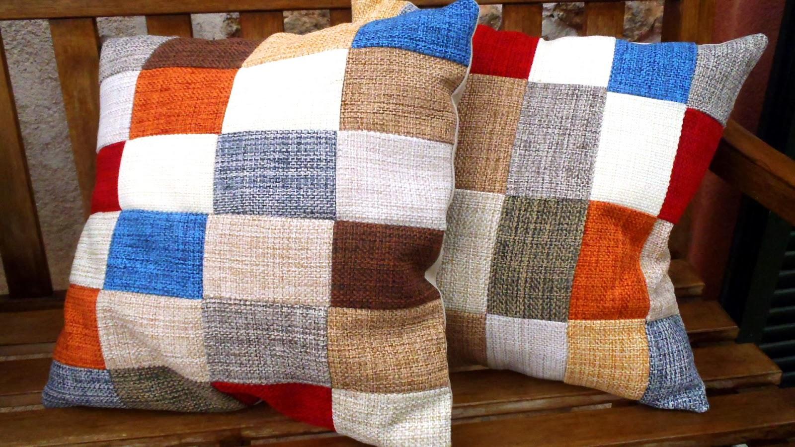 Lib lulas en mi desv n cojines de patchwork - Cojines de patchwork ...