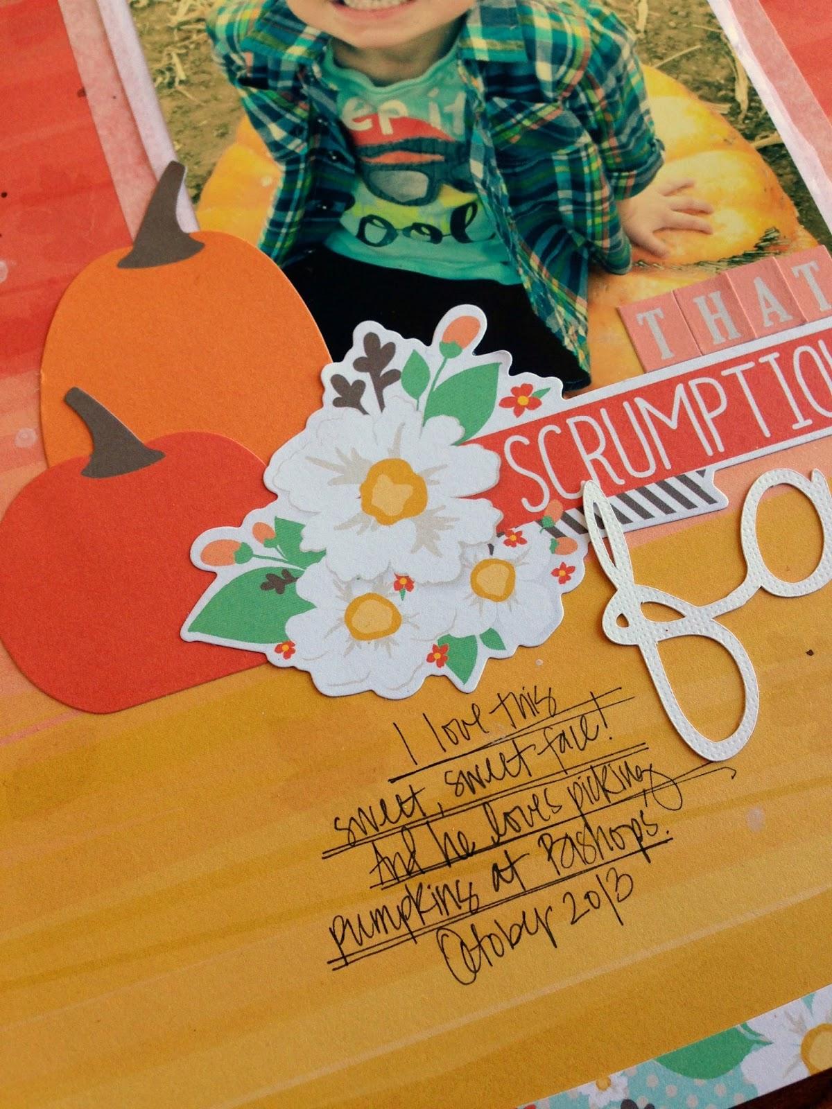 Tessa Buys Chickaniddy Crafts Fall Layout close-up
